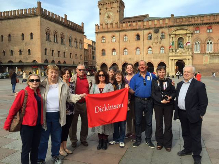 Alumni, faculty, staff and friends of the college gathered in Bologna, Italy, to celebrate the 50th anniversary of Dickinson's study-abroad program.