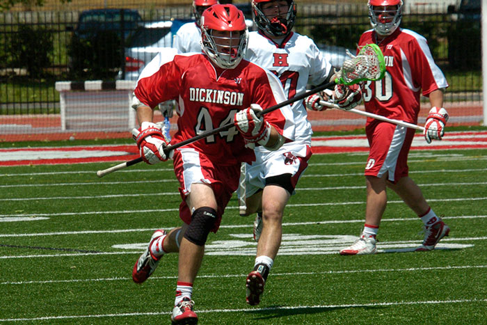 Brandon Palladino on the lacrosse field