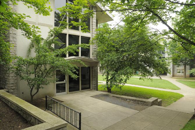 Exterior of Buchanan residence hall