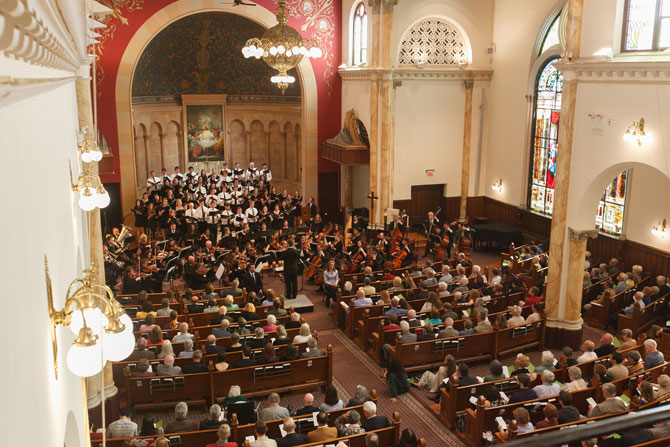 Bird's eye view of the German Requiem concert.