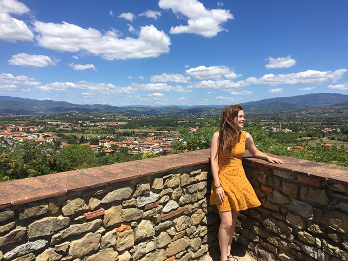 Cailin Smith '18 in Italy.
