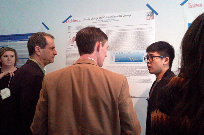 Students presented original research on environmentalism in China during national conference.