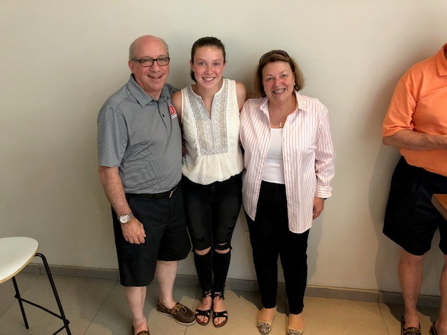 Claire Taben '20 traveled to California for an internship at Winplus North America, Inc., where she met alum and trustee Mark Lehman '71. From there, a unique friendship formed.