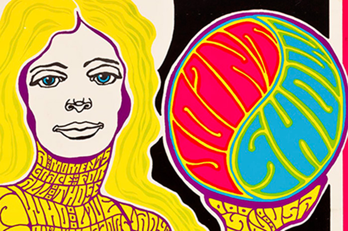 Detail of Joint Show (lithograph on paper), 1967. Given by the artists of Motive Magazine and Professor Emeritus Dennis Akin and Marjorie Pennington Akin.