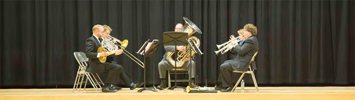 faculty brass quartet, dickinson college