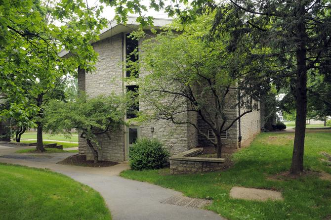 Exterior of Cooper residence hall.