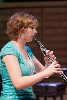 Oboist Anne Crowell, '12