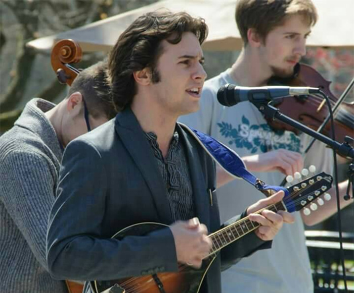 dalton maltz performs in an Irish folk band.