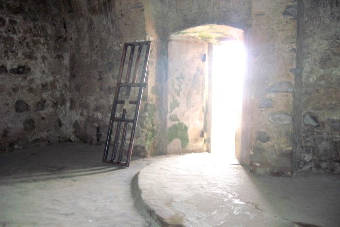 The interior of a slave dungeon in Ghana