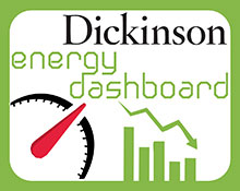 Graphic that reads Dickinson energy dashboard.