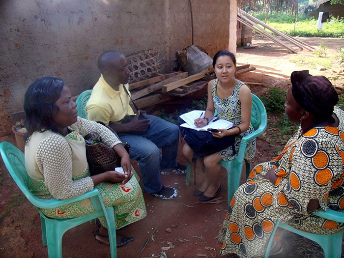 "Jiyeong ""Faith"" Park '16 conducts research in Cameroon."