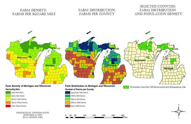 Gis Analysis Of Grey Wolf Habitats In Michigan Gis Student Work Dickinson College