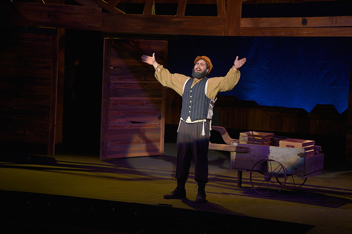 Jeremy Lupowitz '15 stars as Tevye in Dickinson's 50th-anniversary production of Fiddler on the Roof.