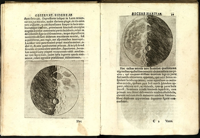 Gallileo's moon drawings have become part of an art-history debate.