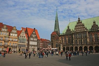 Traditional German town center.