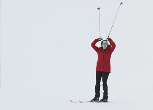 Student skiing