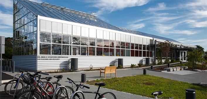 The Dr. Inge P. Stafford Greenhouse for Teaching and Research enhances sustainability education, interdisciplinary learning and the college's science curriculum.