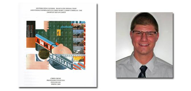 An image of Christopher Gross' thesis cover next to an image of Gross.