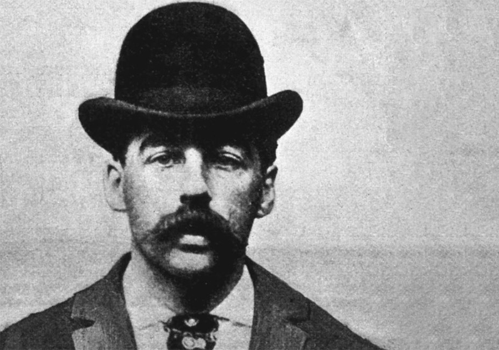 Mugshot of Herman Mudgett, alias H.H. Holmes, America's first-known serial killer.
