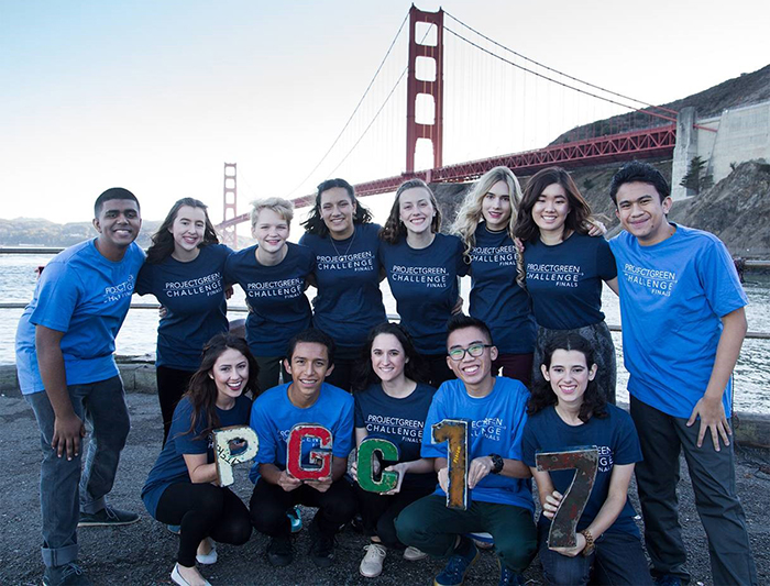 Ilana Zeitzer '19 (first row, far right) poses with fellow finalists in the 2017 PGC competition. She earned second-place honors in this international contest.