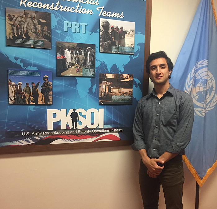 There are many rewarding aspects of Aboody Rumman '20's internship at the Peacekeeping and Stability Operations Institute, like building his skill set and working to impact people for the better.