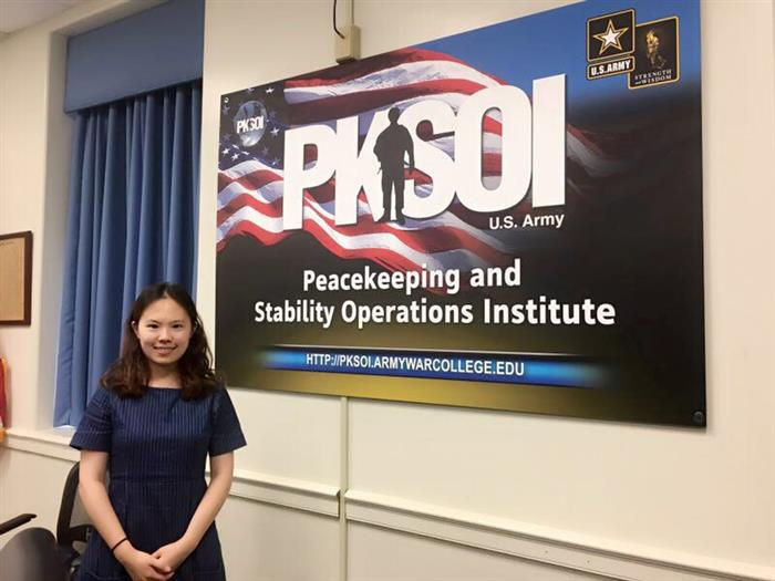 As an intern at the U.S. Army War College, Yachen Jiao '18 is gaining a real-world perspective into policy-making, all the while improving her research skills.