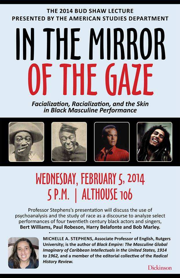 This is a poster for an event co-sponsored by the Africana Studies Dept. entitled