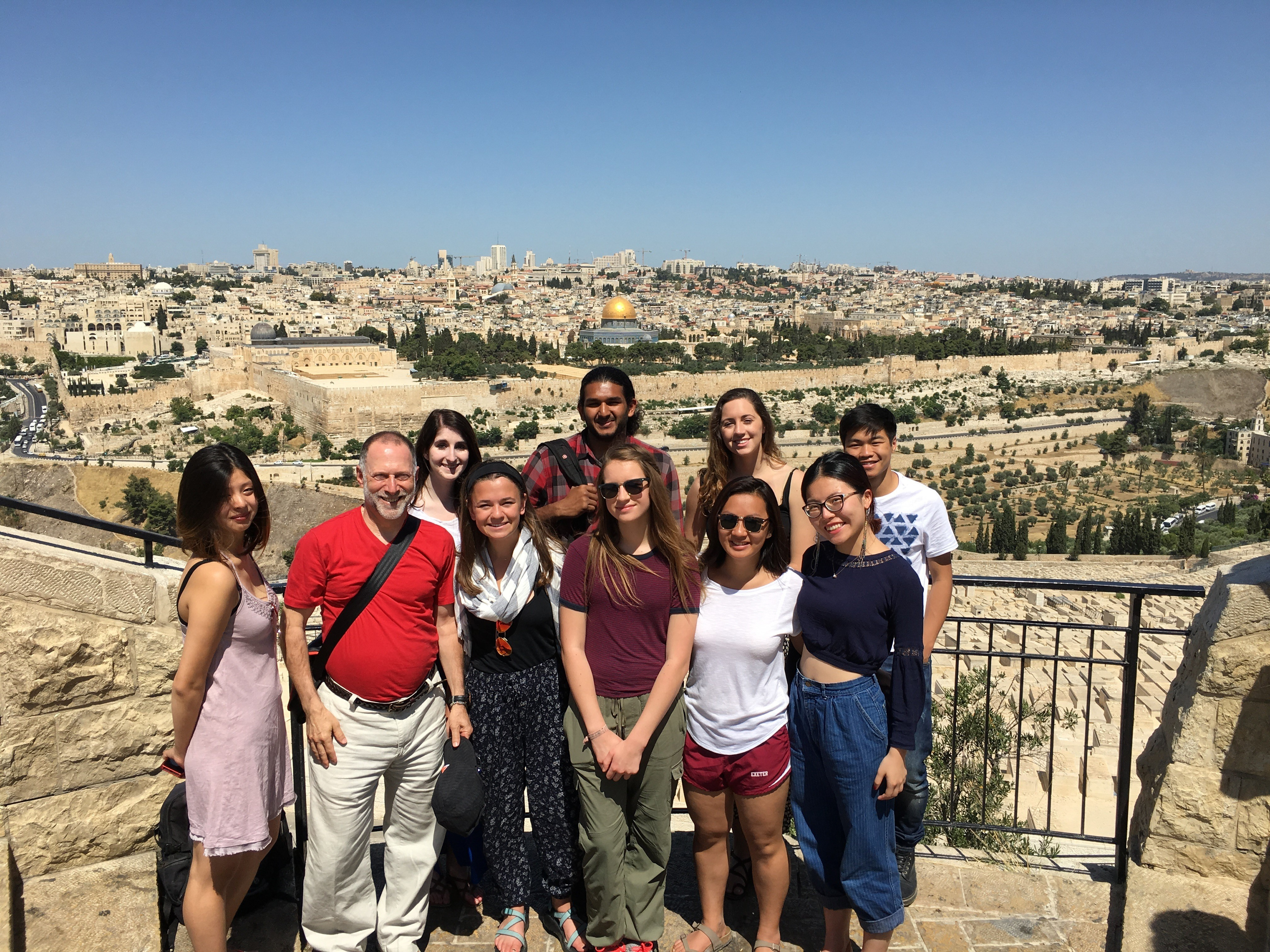 Students visit Jerusalem Temple Mount/Haram al-Sharif during a summer course examining the conflict between Israel and Palestine. Photo courtesy of Shalom Staub.