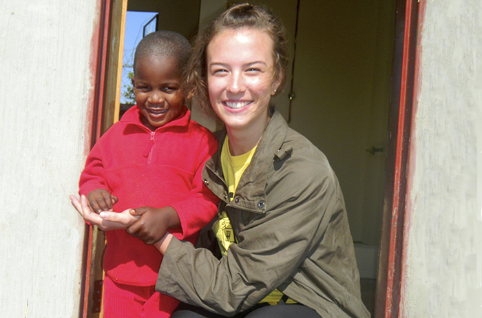 Julia Schneider '15 traveled to St. Lucia, South Africa to perform volunteer work.