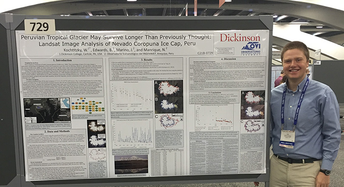 Will Kochtitzky '16 presents at the AGU.