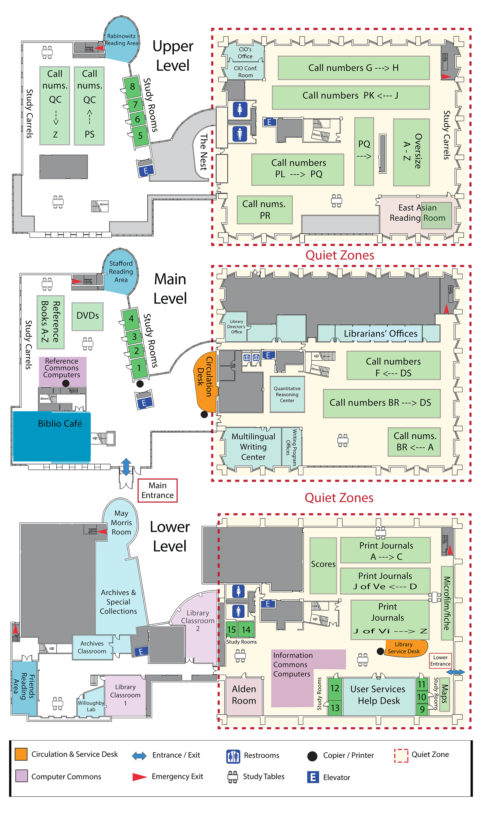 Map of the Waidner-Spahr Library