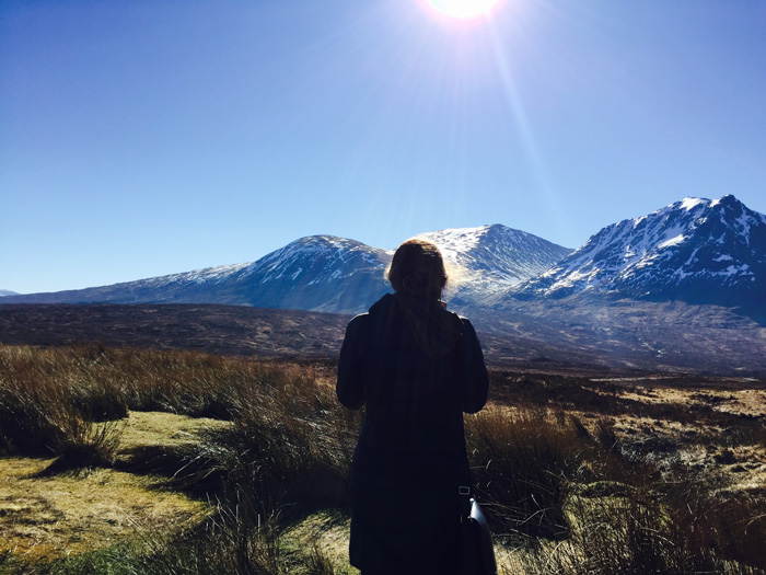 """Spring Break in the Scottish Highlands,"" photo by Bianca LoGiurato '17 (pictured, Natalie McNeill '17)."