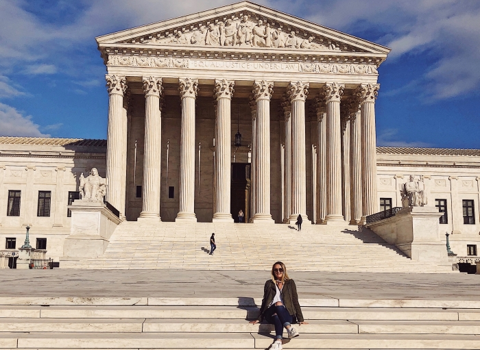 Macy Young '21 in Washington, D.C.
