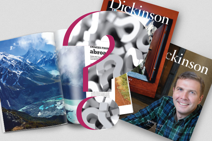 Dickinson magazine covers