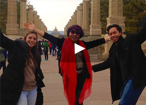 Dickinson students studying abroad.