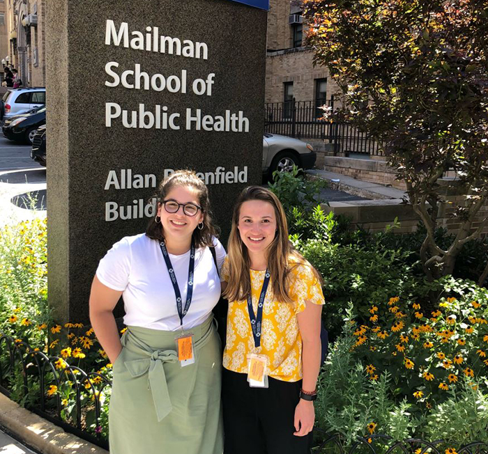 Morgan Silverman '20 (psychology) is working as an intern with the Global Mental Health Program at the Columbia University Medical Center, where she's helping develop an app to assess mental health.