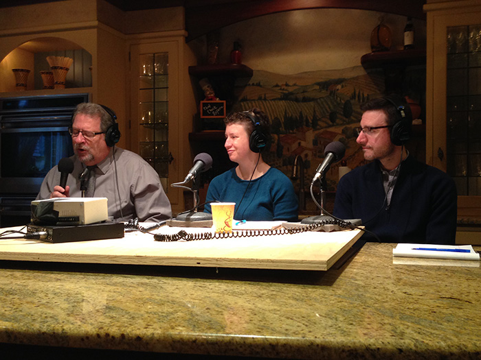 Assistant Professors of Political Science Sarah Niebler and David O'Connell appear on WITF's Smart Talk, with host Scott LaMar (far left).