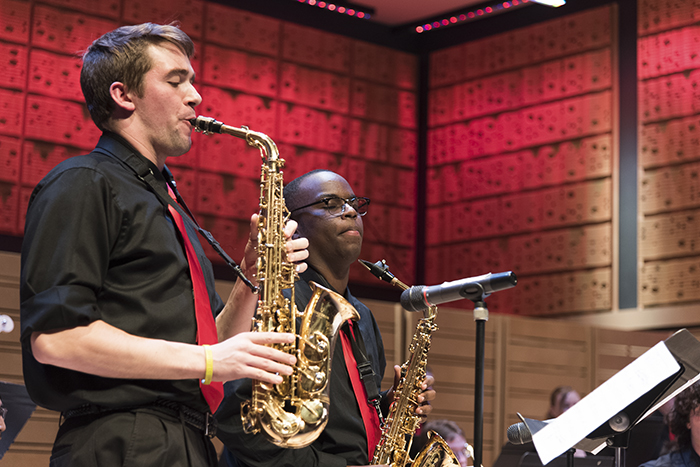 Students perform in the Dickinson College Jazz Ensemble.