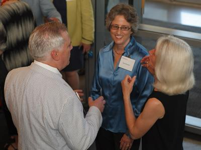 Photograph of Dr. Nancy A. Roseman during Alumni weekend