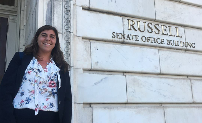 Olivia Termini '19 is serving a summer internship on Capitol Hill.
