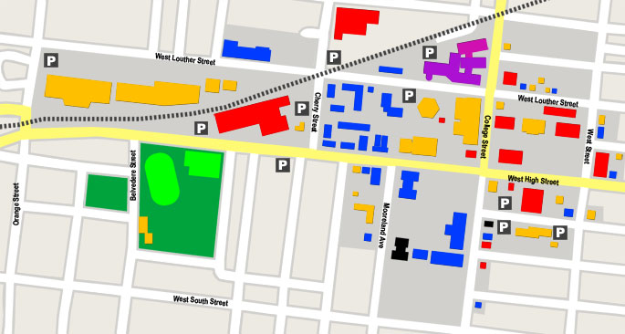 Street Map with Parking Maps and Directions Dickinson College