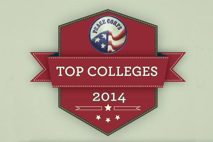 Peace Corps top college badge
