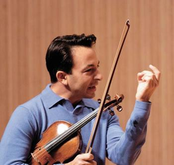 Rich Amoroso '92 plays a violin crafted by Nicolai Gagliano in 1761