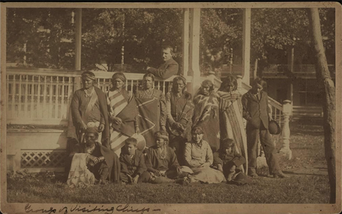 Richard Henry Pratt with Navajo students, 1882.  Courtesy of the Carlisle Indian School Digital Resource Center.