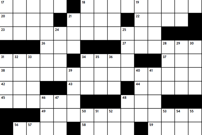 Crossword Puzzle by Gil Ludwig '69