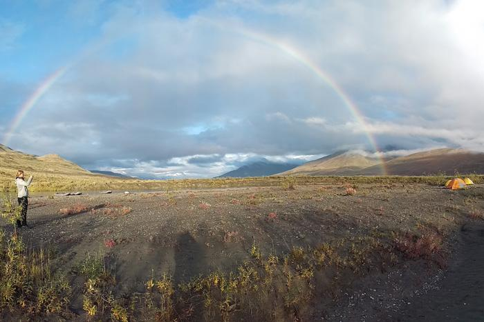 rainbow in the arctic