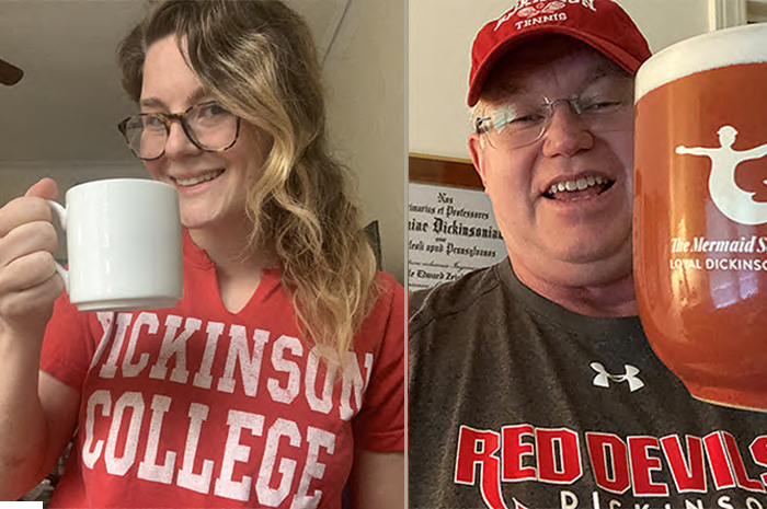 "A ""Raise Your Glass (or Mug)"" event brings Dickinsonians together onscreen for a toast to the college during Virtual Alumni Week."