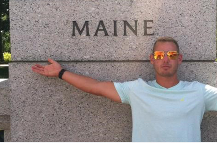 Maine native Ralph Humiston '17. Photo courtesy of Humiston.