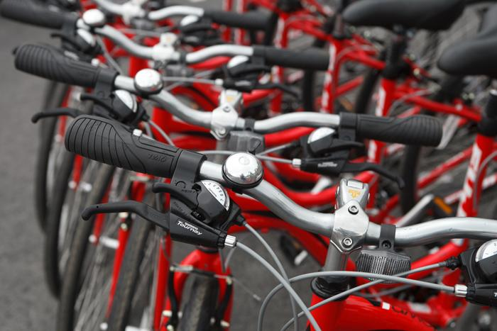 Dickinson supports sustainable transportation with our free, bike share of Red Bikes.