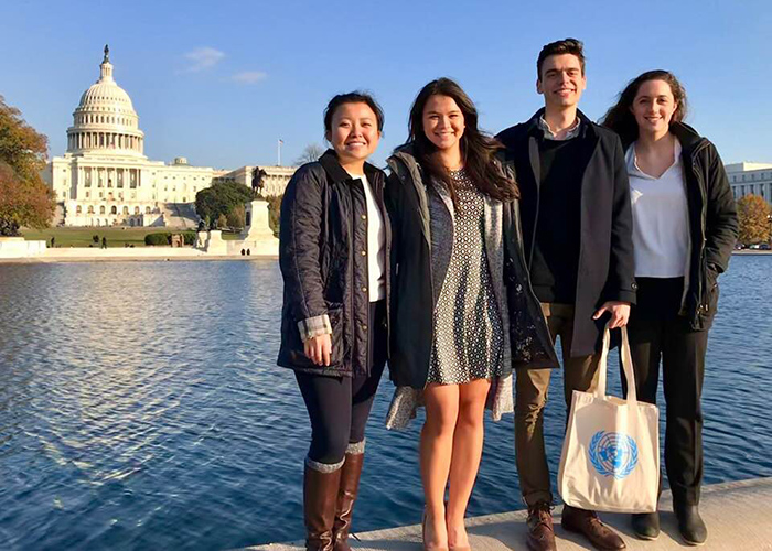 Students lobbied in Washington, D.C., as part of a campaign they developed in a course that blended social media marketing and social justice work.